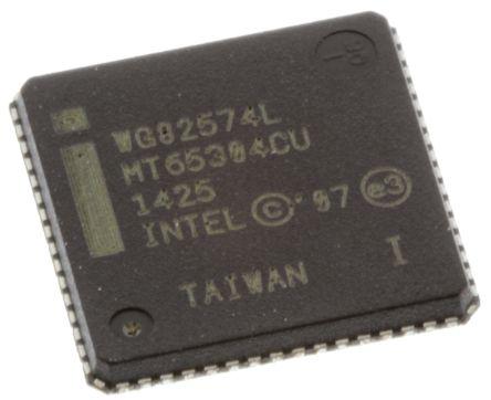 Intel WG82574IT S LBAC, Ethernet Controller, 10 Mbps, 100 Mbps, 1000 Mbps GMII, MII, RMII, PCI, 1.05 V, 1.9 V, 3.3 V,