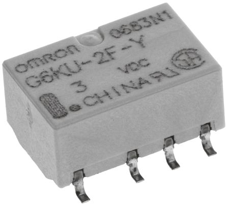 DPDT Surface Mount Latching Relay 1 A, 3V dc For Use In Signal Applications