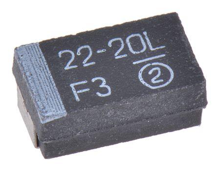 22 /µF Capacitance 20V Inc. Radial Lead NTE Electronics TD22M20 Series TD Solid Tantalum Capacitor 20/% Tolerance