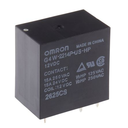 15 A DPST-NO 24 VDC G4W Series Power General Purpose Relay Non Latching