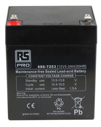 fg20451 fiamm fg20451 12v lead acid battery 4 5ah fiamm. Black Bedroom Furniture Sets. Home Design Ideas
