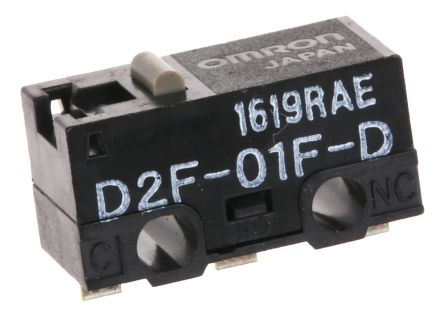 D2f-01l miniatura MICROSWITCH 30vdc 100ma OMRON