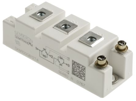 Semikron SKM100GB12T4 , SEMITRANS2 , N-Channel Dual Half Bridge IGBT Module, 160 A max, 1200 V, Panel Mount