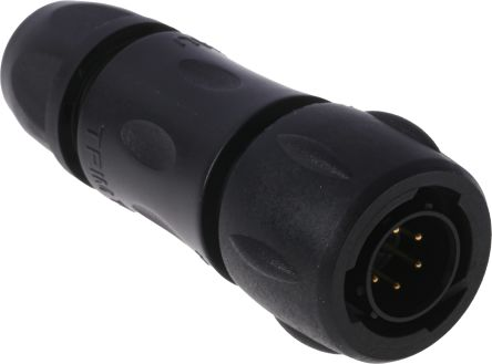 Souriau Cable Mount Connector, 6 Pole Socket UTS Series