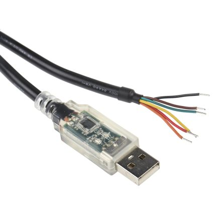 1.8m USB to Wire Ended Black Interface Converter Cable product photo