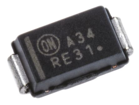 ON Semi 40V 3A, Schottky Diode, 2-Pin DO-214AC MBRA340T3G