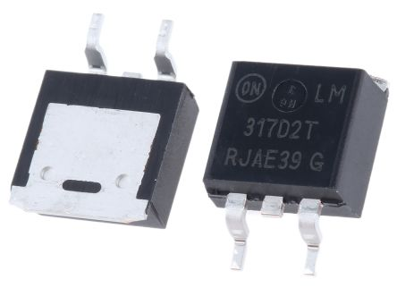 ON Semiconductor, 1.2 → 37 V Linear Voltage Regulator, 1.5A, 1-Channel, Adjustable 3-Pin, D2PAK LM317D2TR4G
