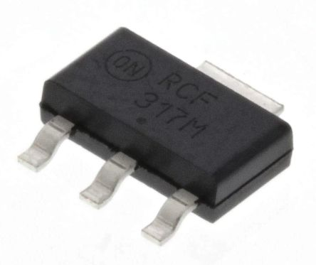 ON Semiconductor, 1.2 → 37 V Linear Voltage Regulator, 250mA, 1-Channel, Adjustable, ±4% 3+Tab-Pin, SOT-223