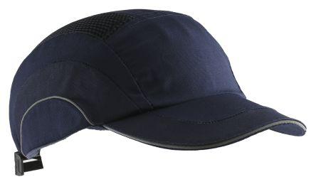 JSP Navy Standard Peak Safety Cap, HDPE Protective Material