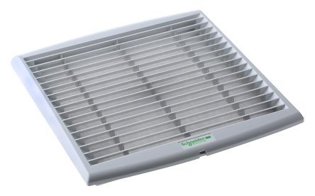 Grey Plastic Vent Grille, 268 x 248mm product photo