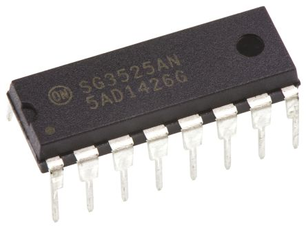 ON Semiconductor SG3525ANG, Dual PWM Voltage Mode Controller, 400 mA, 400 kHz 16-Pin, PDIP