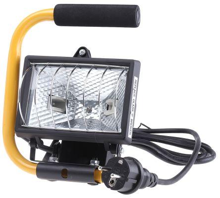 120 W Halogen Floodlight, Portable, IP44 Halogen, 230 V ac