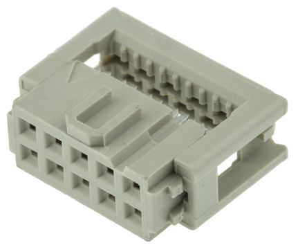 SEK-18 Series 2.54mm Pitch Right Angle Cable Mount IDC Connector, Socket, 10 Way, 2 Row product photo