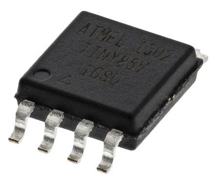 Atmel ATTINY85V-10SU, 8bit AVR Microcontroller, 10MHz, 512 B, 8 kB Flash, 8-Pin SOIC