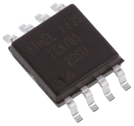 Microchip ATTINY85-20SU, 8bit AVR Microcontroller, ATtiny, 20MHz, 8 kB, 512 B Flash, 8-Pin EIAJ SOIC