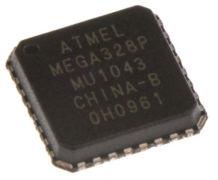 Microchip ATMEGA328P-MU, 8bit AVR Microcontroller, 20MHz, 1 kB, 32 kB  Flash, 32-Pin MLF