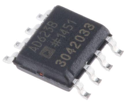 Analog Devices AD623BRZ, Instrumentation Amplifier, 0.1mV Offset, R-RO, 3 V, 5 V, 9 V, 8-Pin SOIC