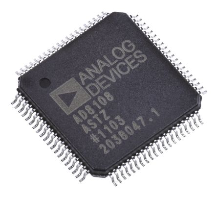 Analog Devices AD8108ASTZ, Crosspoint Switch 8 x 8 325MHz Video, 80-Pin LQFP