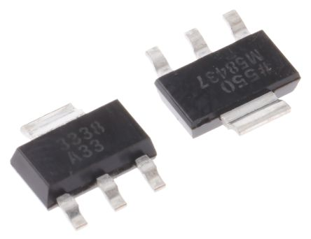 Analog Devices ADP3338AKCZ-3.3RL7, LDO Regulator, 1A, 3.3 V, ±0.8% 3+Tab-Pin, SOT-223
