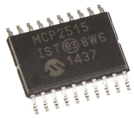 Microchip MCP2515-I/ST, CAN Controller 1Mbit/s CAN 2.0B, 20-Pin TSSOP