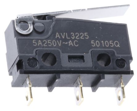 SPDT Hinge Lever Microswitch 5 A @ 250 V ac