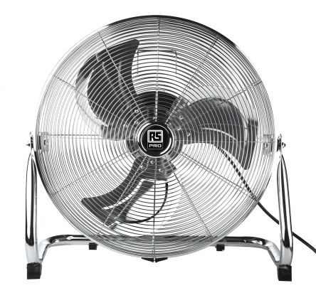 Heavy Duty Fan >> Rs Pro Floor Heavy Duty Fan 5100m H 450mm Blade Diameter 3 Speed 230 V With Plug Type G British 3 Pin