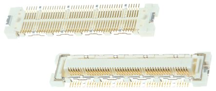 Hirose FX10 Series 0.5mm Pitch 80 Way 2 Row Straight PCB Socket, Surface Mount, Solder Termination