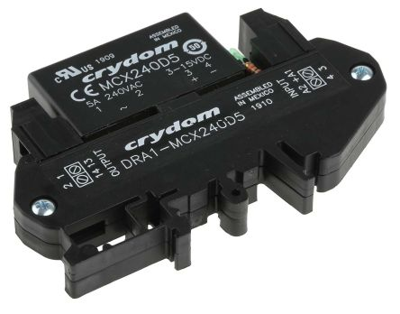 Sensata / Crydom 5 A rms Solid State Relay, Zero Cross, DIN Rail, 280 V Maximum Load