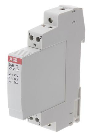 Industrial Surge Protector, 10kA, 24 V, DIN Rail Mount
