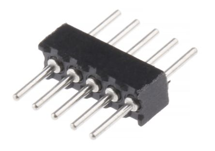 Preci-Dip 1.27mm 5 Way 1 Row Straight Through Hole Male Multiway Connector