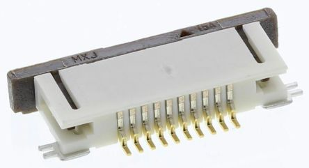 Easy-On 52746 Series 0.5mm Pitch 10 Way Right Angle SMT Female FPC Connector, ZIF Bottom Contact product photo