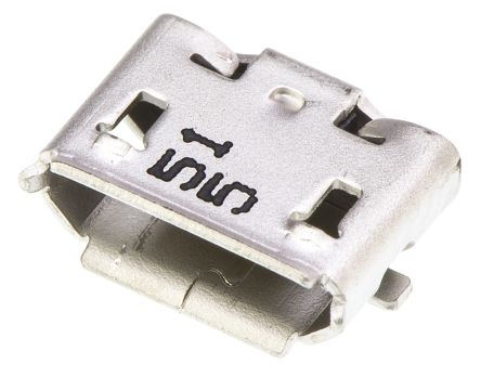 Molex B 2.0 Micro USB Connector Receptacle, Right Angle - 47352