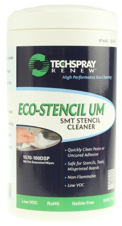 Techspray 100 Wipes Flux Remover for PCBs