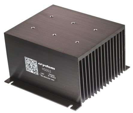 Panel Mount Solid State Relay Heatsink for use with 1 x 3 phase SSR, 1, 2 or 3 single or dual SSR