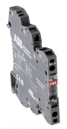 ABB Optocoupler, Max. Forward 24 V, Max. Input 5.4 mA, 70mm Length, DIN Rail Mounting Style