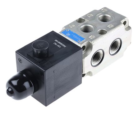 Bosch Rexroth Oil Control CETOP Mounting Hydraulic Flow Control Valve, R933003835, 6-way, 12V dc, 90L/min