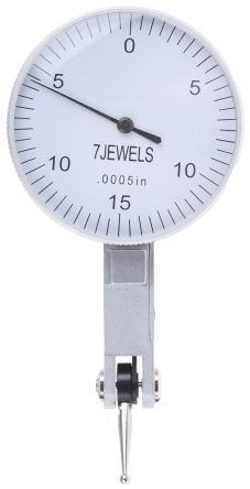 Levertype Dial Indicator,0-0.03in/0-15-0