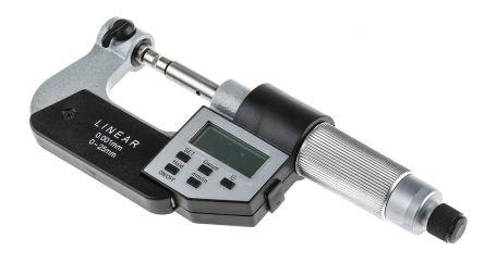 Digital Micrometer w/anvil,0-25mm/0-1in