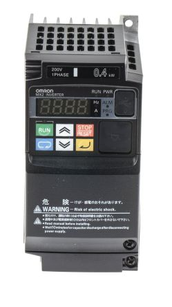 Omron Inverter Drive, 1-Phase In, 0.1 → 400Hz Out 0.4 kW, 230 V, on
