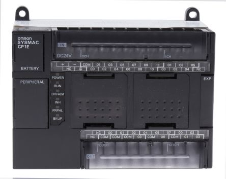 Omron CP1E PLC CPU, USB Networking Computer Interface, 32 kB Program  Capacity, 18 Inputs, 12 (Transistor) Outputs