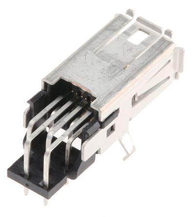 TE Connectivity Through Hole Mini I/O Connector Female