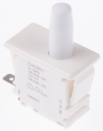 Single Pole Double Throw (SPDT) Push Button Switch, 10 A @ 250 V ac product photo