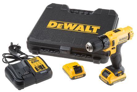 Dewalt Keyless DCD 10.8V, 2Ah Li-ion Cordless Drill, UK Plug