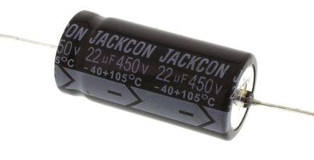 RS Pro RS, THT Alu Kondensator, Elko 22μF ±20%, 450Vdc, Ø 16mm x ...