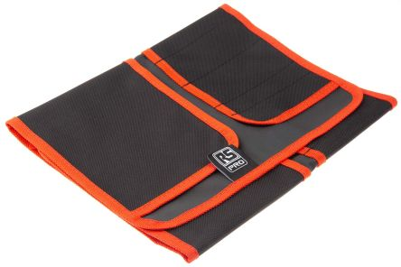 RS PRO Black Polyester Tool Roll, 650mm x 270mm