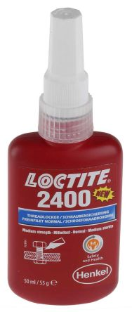 LOCTITE 2400 Blue Thread lock, 50 ml, 2 h Cure Time product photo