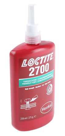 LOCTITE 2700 Green Thread lock, 250 ml, 3 h Cure Time product photo