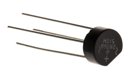 2W06G-E4/51, Bridge Rectifier, 2A 600V, 4-Pin WOG product photo