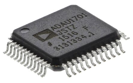 Analog Devices ADAU1701JSTZ Audio Processor, 48-Pin LQFP