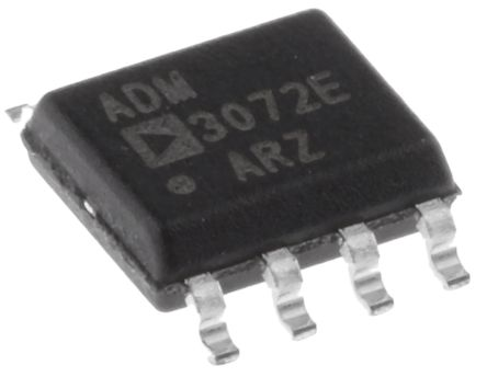 Analog Devices ADM3072EARZ, Line Transceiver, RS-422, RS-485, 3.3 V, 8-Pin SOIC